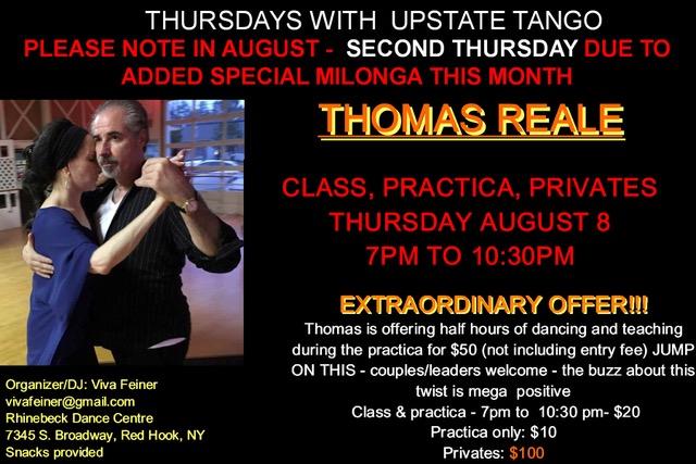 New York Tango calendar with classes, milongas, practicas, shows